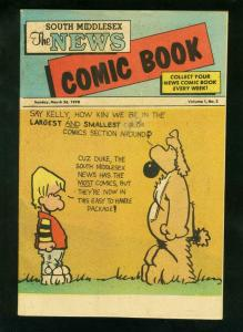 SOUTH MIDDLESEX NEWS COMIC BOOK #2 1978- SPIDER-MAN -TARZAN-KELLY & DUKE VG