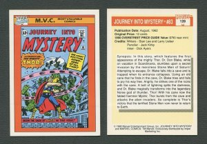 1990 Marvel Comics Card  #128 (Journey Into Mystery #83 Cover) NM