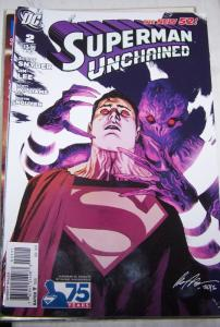 Superman Unchained #2 (September 2013, DC) rafael albuquerque variant parasite