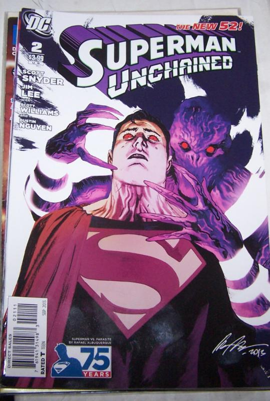 Superman Unchained #2 (September 2013, DC) rafael albuquerque variant parasite