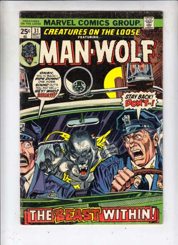 Creatures on the Loose #31 (Sep-74) VG Affordable-Grade Man-Wolf