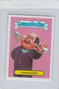 Garbage Pail Kids Lanced Leo 8a GPK 2016 American As Apple Pie In Your Face