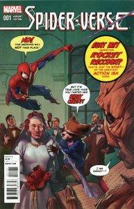 SPIDER-VERSE #1 Marvel Comics 2014 Rocket Raccoon & Groot Variant Cover
