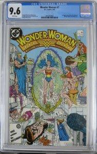 WONDER WOMAN #7 (DC,8/1987) CGC 9.6 first new Cheetah