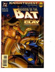 4 Batman Shadow of the Bat DC Comic Books # 26 27 28 29 Azrael Clayface WM2