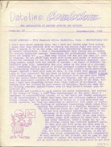 Dateline Comicdom #17 9/1966-Robert Klein-newsletter-comic collector info-FN