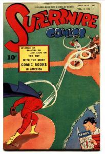 Supersnipe Vol. 3 #11 1947 SPORT COMICS cover-Superhero VF-