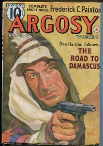 Argosy-9/3/1938-Munsey-Arab-pistol-Rudolph Belarski cover-VF
