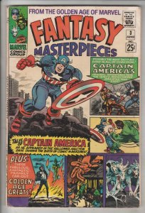 Fantasy Masterpieces #3 (Jun-66) VG Affordable-Grade Golden-Age Captain Ameri...