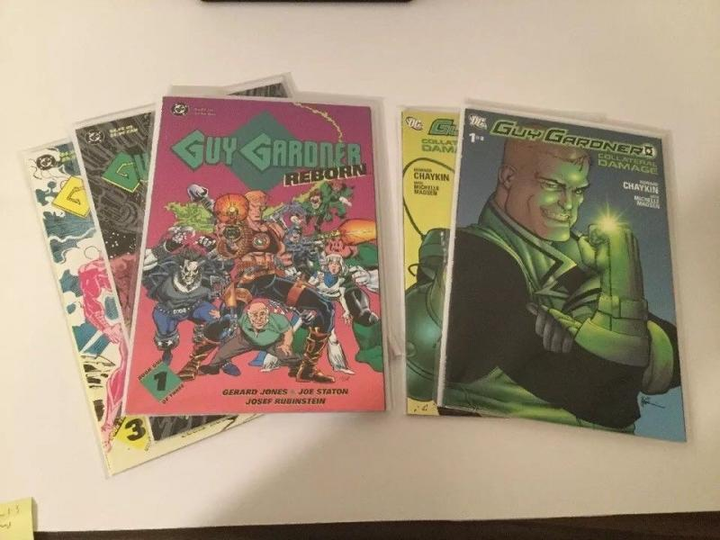 Guy Gardner Collateral Damage 1-2 And Reborn 1-3 NM Near Mint