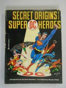 Secret Origins of the Super DC Heroes TPB 4.0 VG SC (1976 Warner Books)