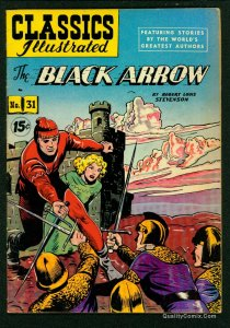 Classics Illustrated #31 VG/FN 5.0 HRN 87 The Black Arrow