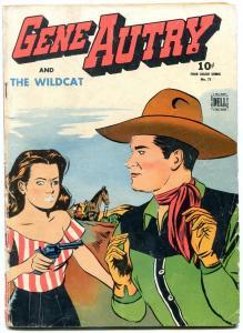 Gene Autry & the Wildcat- Four Color Comics #75 1945- F/G