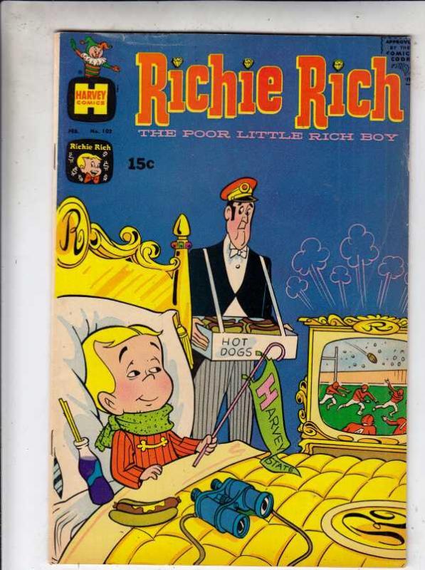 Richie Rich #102 (Feb-71) VF+ High-Grade Richie Rich