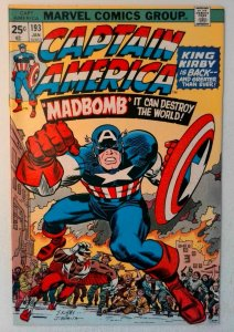Captain America #193 Marvel 1976 FN/VF Comic Book Key Classic Cover Jack Kirby