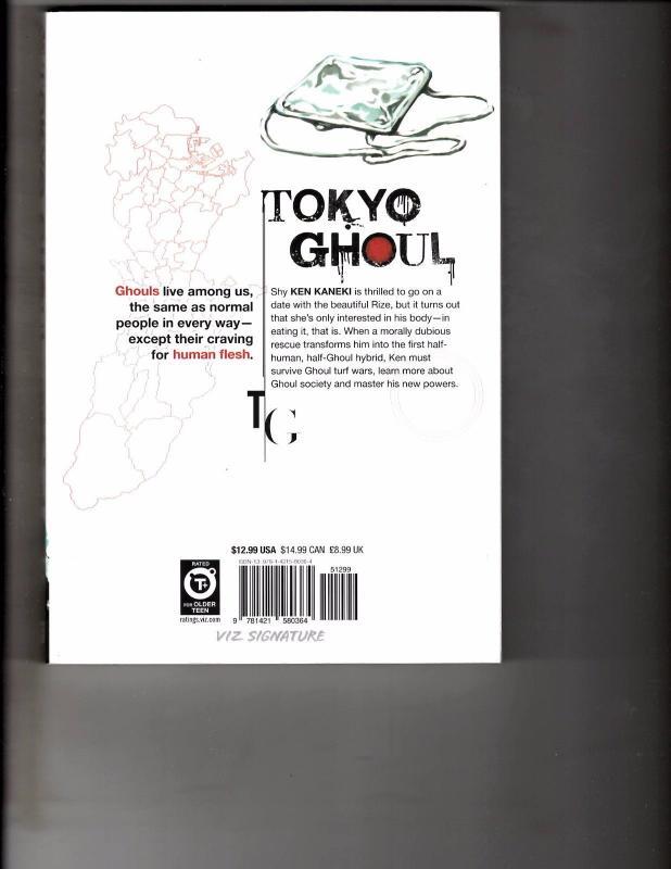 Tokyo Ghoul Vol 1 TPB Manga Anime Horror Bleach Naruto Dragonball WR1