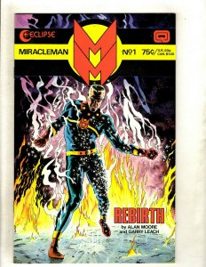 Lot Of 7 Miracleman Eclipse Comic Books # 1 2 3 4 5 6 7 Alan Moore VF/NM HJ9