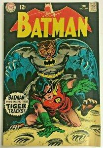 BATMAN#209 FN 1969 DC SILVER AGE COMICS