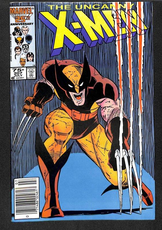 X-men #207  Wolverine! Marvel Comics