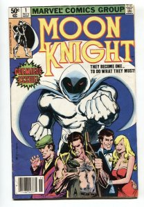 MOON KNIGHT #1 comic book 1988-MARVEL COMICS-First issue VG