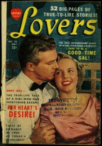 Lovers #28 1950- Photo cover- Atlas Golden Age Romance F/G