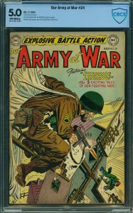 Our Army at War #24 (DC, 1954) CBCS 5.0