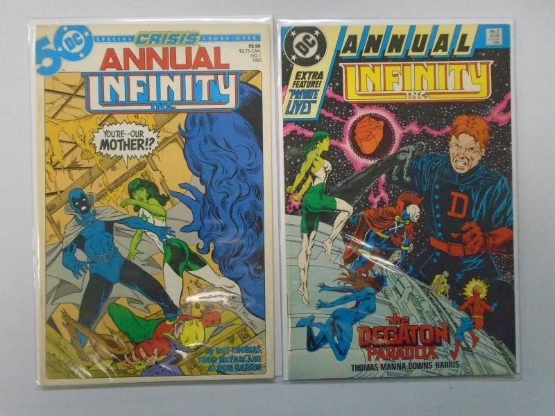 Infinity run #1-53 & Annual (1st series) missing: #10,13,18 8.0 VF (1984)