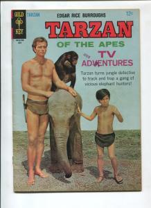 TARZAN #168 1967-GOLD KEY-EDGAR RICE BURROUGHS-VF