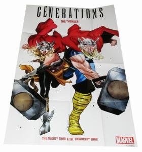 Generations Mighty & Unworthy Thor Folded Promo Poster (36 x 24) - New!