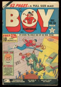 BOY COMICS #60 1950-IRON JAW RETURNS-LEV GLEASON-BIRO VG