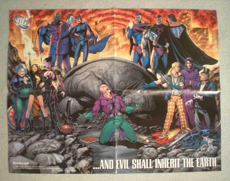 EVIL SHALL INHERIT THE EARTH Promo Poster, DC, Unused, more in our store