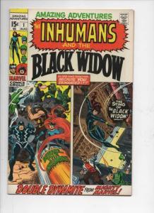 AMAZING ADVENTURES #1, FN/VF, Inhumans, Black Widsow, Jack Kirby, 1970