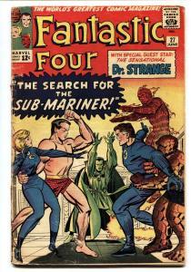 FANTASTIC FOUR #27-comic book-DR. STRANGE CROSSOVER-1964-SILVER-AGE