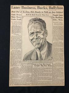 Schweitzer Original Sporting News Art September 13 1961 Frank Lane