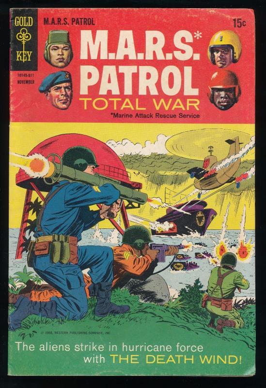 Gold Key M.A.R.S. Patrol Total War #7, 1968 (SIC342)