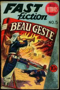 Fast Fiction #5 1950- Beau Geste- Golden Age Comic- PC Wren VG