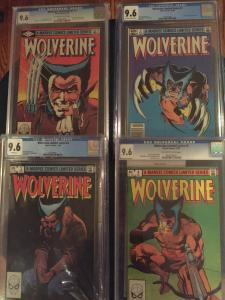 wolverine limited series 1-4 CGC all 9.6, Mint Cases