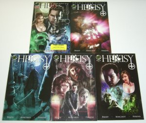 Heresy #1-4 VF/NM complete series + preview - man forms alliance with vampires