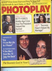 Photoplay-Loretta Lynn-Liz Taylor-Elvis-Carol Burnett-Nov-1974