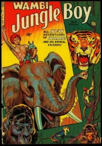 Wambi Jungle Boy #11 1951- Tiger Elephant cover- Fiction House POOR