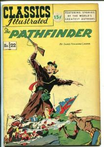 CLASSICS ILLUSTRATED #22-HRN 70-THE PATHFINDER-JAMES FENIMORE COOPER-vg+