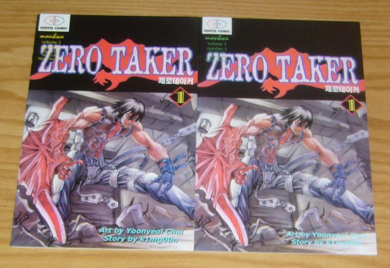 Zero Taker #1-2 VF/NM complete series - curtis comic manga - k1mg00n - yoonyeol