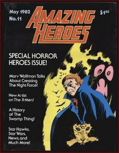 AMAZING HEROES 11 VF HORROR HEROES ISSUES,WARREN RETROS