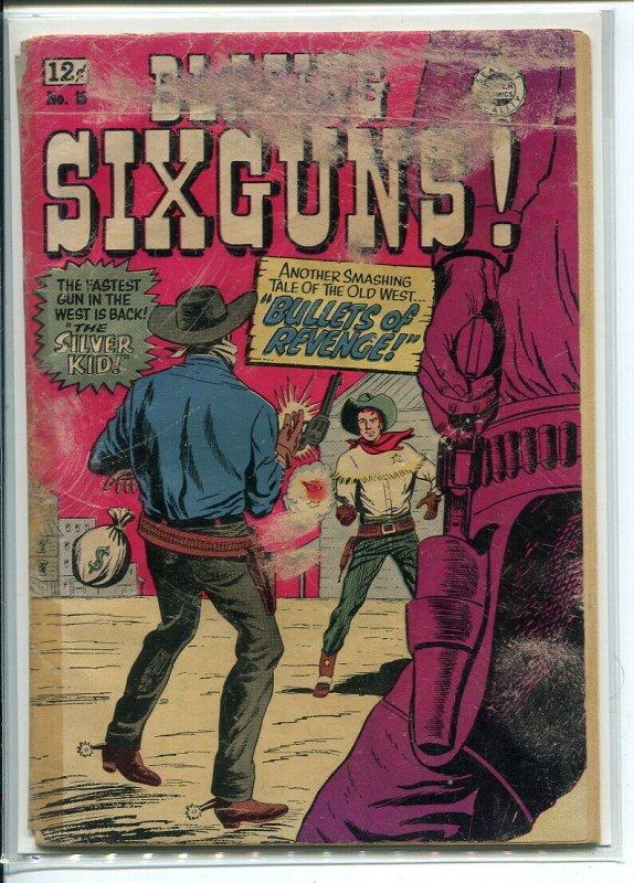BLAZING SIX-GUNS (1964 I. W. REPRINT) #15 Fair tape on spine -00135