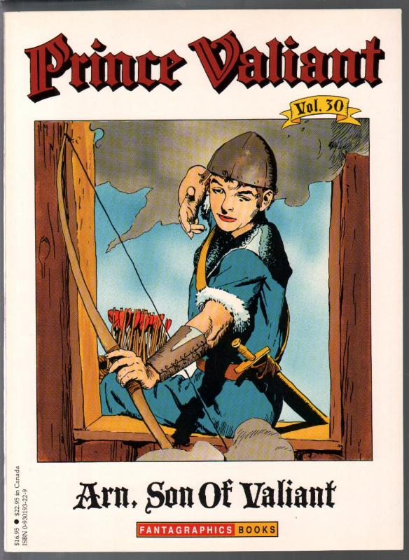 Prince Valiant #30 1995-Fantagraphics-color reprint-Hal Foster-Arn, Son Of Valia