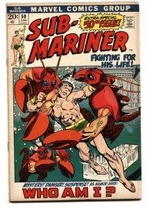 Sub-mariner #50 Marvel 1st Namorita-comic book