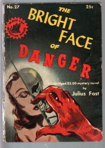 Black Cat Detective #27 1947-Bright Face of Death-Julius Fast-hardboiled-VG