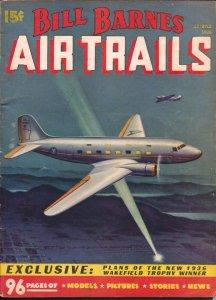 Bill Barnes Air Trails 3/1936-hero pulp-Frank Tinsley air war cover-Man Who F...