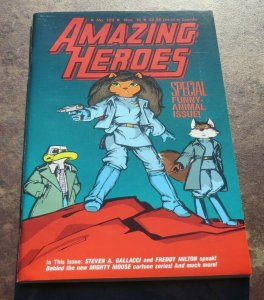 Amazing Heroes #129 NM+ WP High Grade Comic Special Funny Animal Issue Grendel
