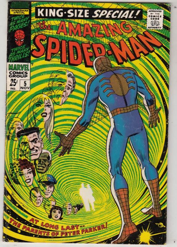 Amazing Spider-Man, King-Size Annual #5 (Nov-68) FN/VF+ High-Grade Spider-Man